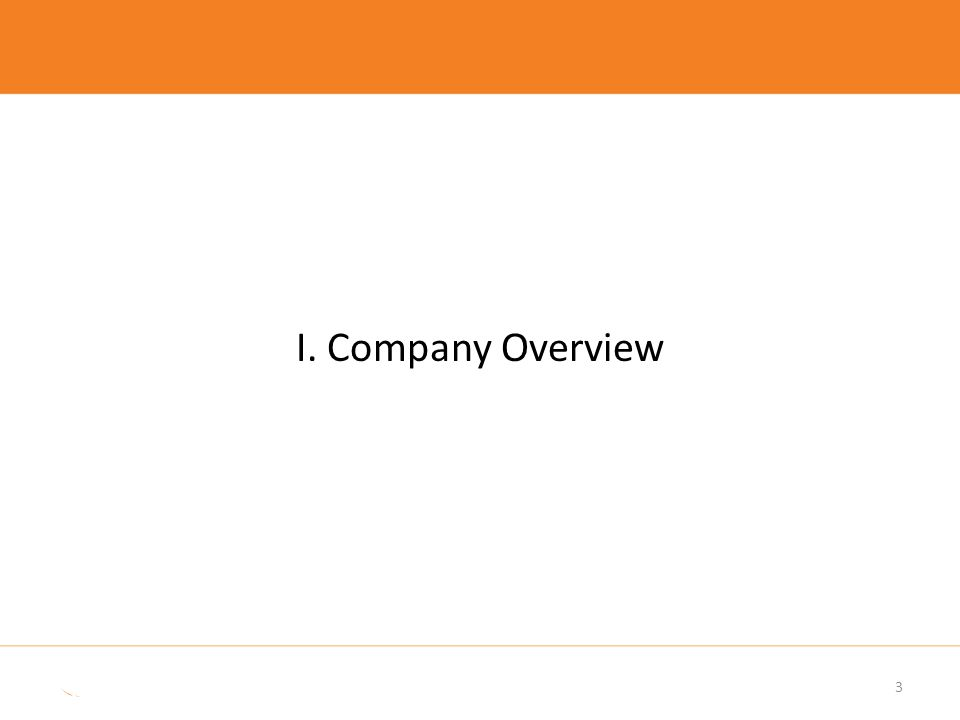 Company Overview Sale of general lighting business completed end August 2013.