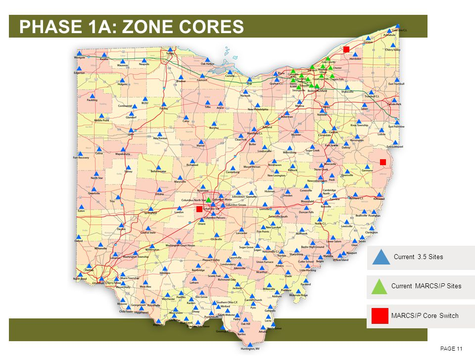 PHASE 1A: ZONE CORES PAGE 12 Jefferson Zone Core added Upgrade existing Lake and SOCC Zone Cores – v 7.13 CAD Upgrade to Premier One OSHP ODNR others.