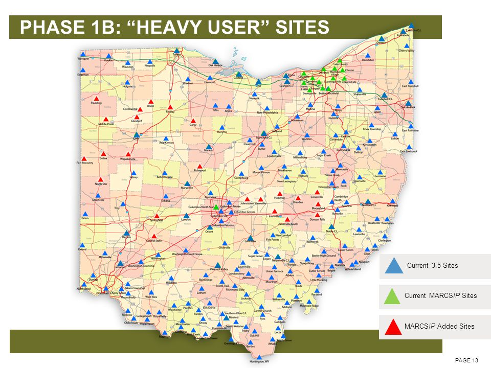 PHASE 1B: HEAVY USER SITES PAGE 14 6 Channel Transmitters at 24 Heavy User Locations Subscribers Current MARCSIP SitesCurrent 3.5 SitesMARCSIP Added Sites