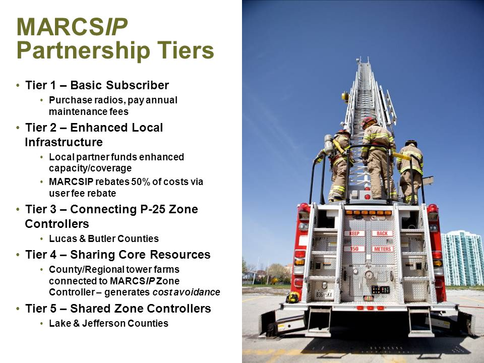 MARCSIP Financing COPS Funded Up to $90,000,000.00 Subject to Controlling Board approval – 5/21/2012 Debt Reduction Via maintenance fees from end users Future Upgrades Software refreshes, TDMA (narrowbanding of 700 MHz) Infrastructure – also via maintenance fees Goal 50,000 additional radios (&/or radio proxies) on system within next five years, allowing current $20/mo maintenance fee to remain stable PAGE 33