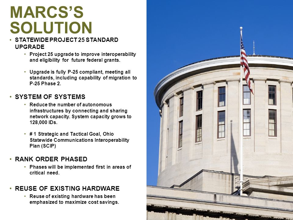 SHARED COMMUNICATIONS SERVICES FOR OHIO PUBLIC SAFETY in the 21 st Century HIGH – LEVEL ROLL-OUT PLAN PAGE 6