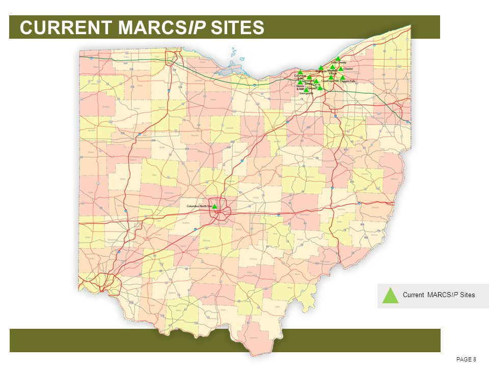 Phase 1 - IMMEDIATE NEEDS PAGE 9 Current MARCSIP SitesCurrent 3.5 Sites