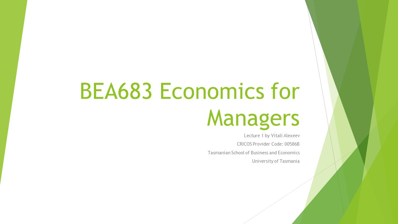 Prescribed Text  J.Gans. Core Economics for Managers.
