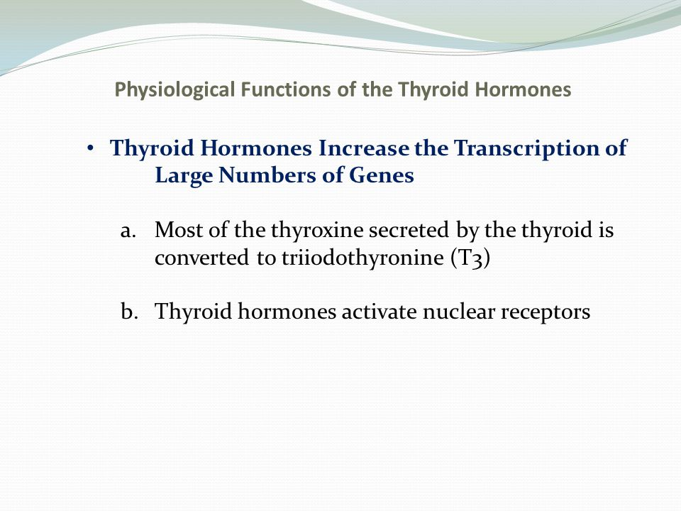 Physiological Functions of the Thyroid Hormones Fig.
