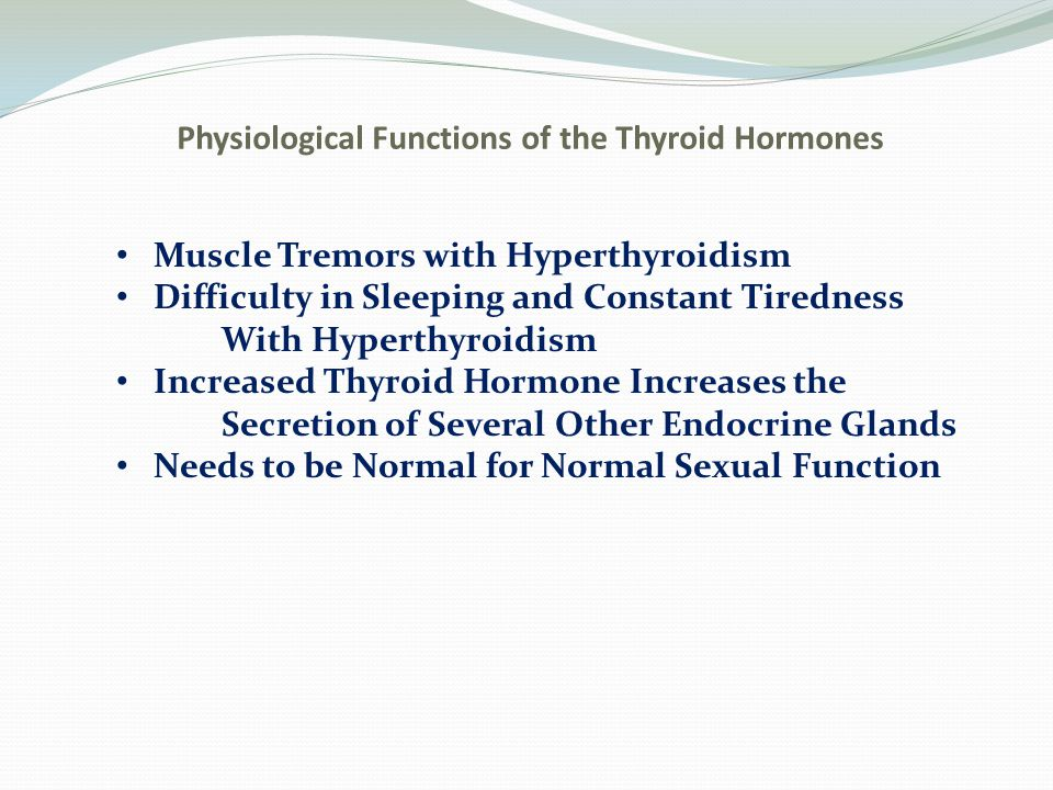 Regulation of Thyroid Hormone Secretion TSH (Anterior Pituitary) Increases Thyroid Secretion a.Increased proteolysis of the thyroglobulin b.Increased activity of the iodide pump c.Increased iodination tyrosine d.Increased size and secretory activity of the thyroid cells e.Increased number of thyroid cells Cyclic AMP Mediates the Stimulatory Effect of TSH- acting as a second messenger system