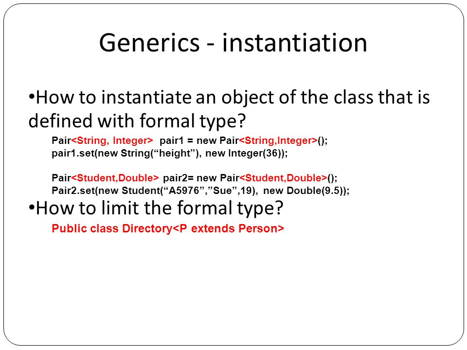 Generics - method How to define formal types which are used only in a method, not the scope of the class.