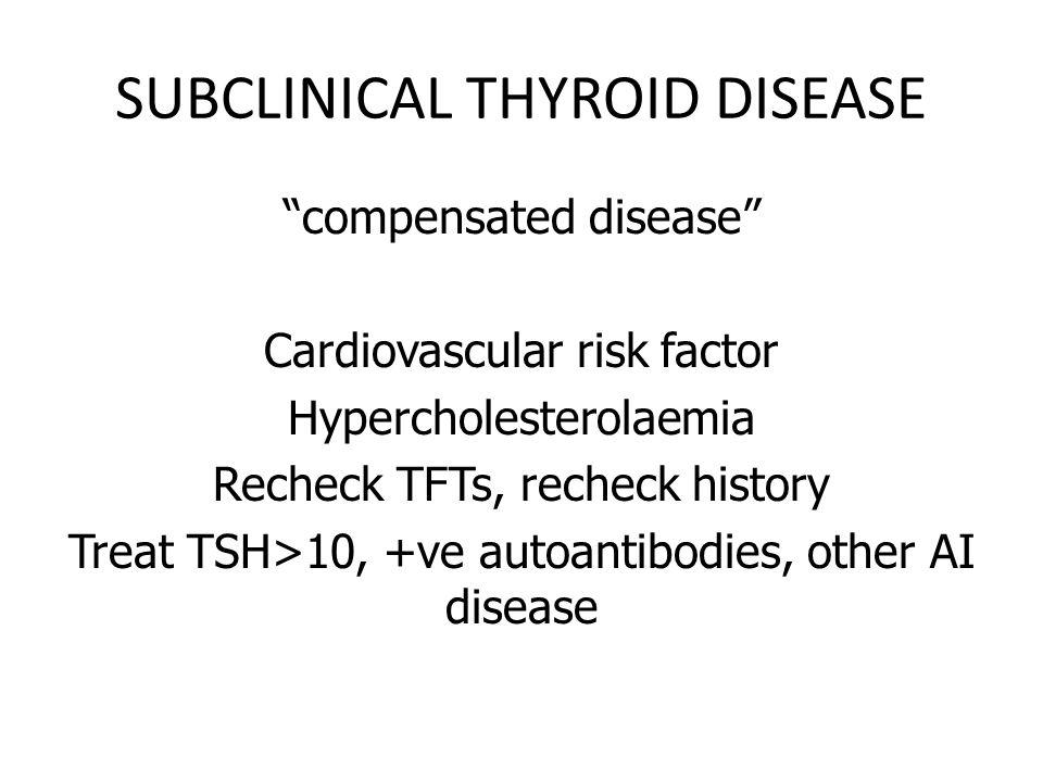 BE CAREFUL WITH THYROID TERMINOLOGY 1 – Marker for papillary and follicular thyroid cancer 2 – Binds 5% of circulating T4 3 – Binds 80% circulating 4 – Inhibits thyroperoxidase 5- Upregulates thyroperoxidase 6- beta-hCG cross reacts with this mollecules receptor 7- Levels predict the rate of conversion of subclinical hypothyroidism to thyroid disease A Thyroglobulin B Thyroxine C Triiodothyronine D TSH E Thyroid-binding globulin F Thyroperoxidase G Anti-TPO antibodies H Thionamide I Tyrosine J Albumin K Thyroid binding pre-albumin