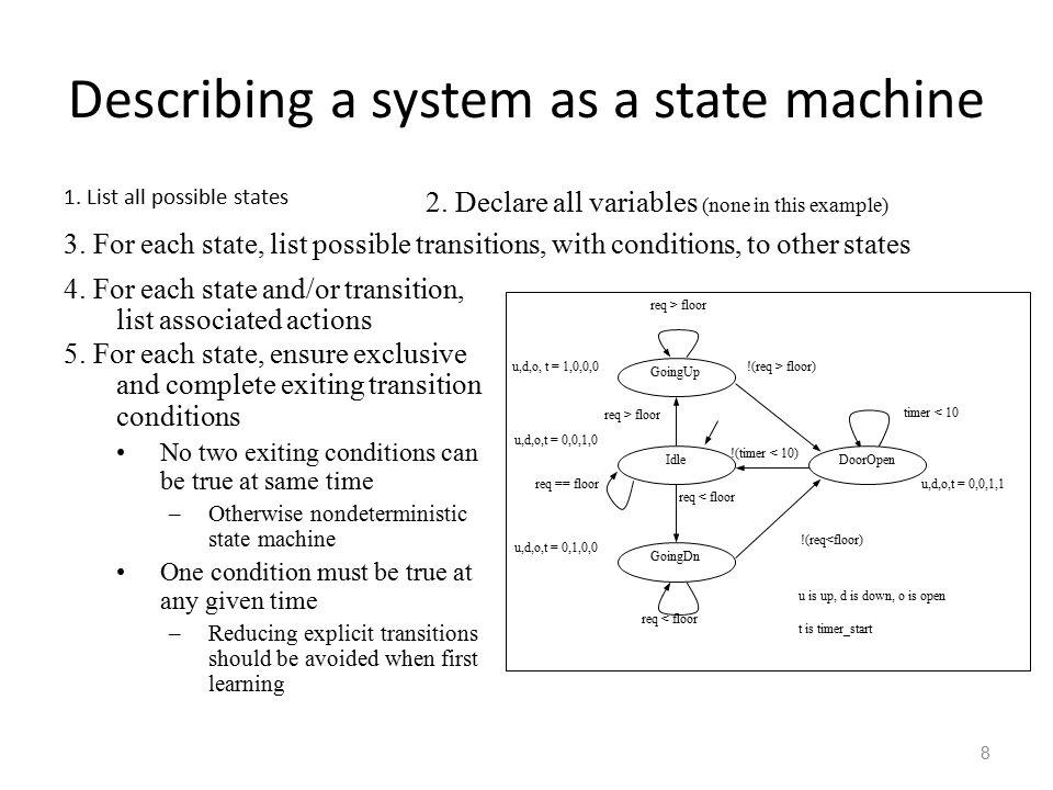 9 State machine vs.