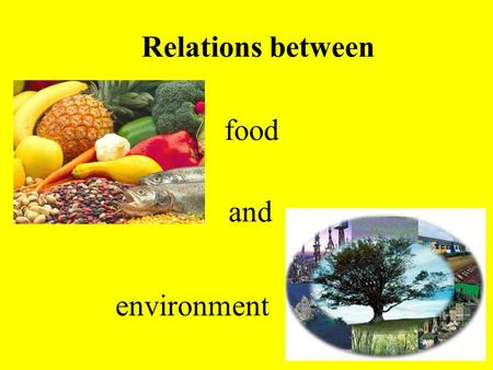 Food environment Relations between and. FOOD CHAIN.