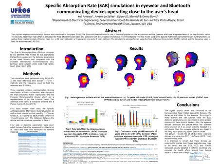 Specific Absorption Rate (SAR) simulations in eyewear and Bluetooth communicating devices operating close to the user's head Yuli Álvarez 1, Alvaro de.