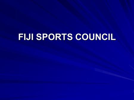 FIJI SPORTS COUNCIL. INTRODUCTION INTRODUCTION The Fiji Sports Council is a statutory body established under an act of Parliament to perform the following.