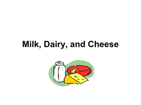 Milk, Dairy, and Cheese. FACTS TO KNOW When determining the freshness of milk, check the sell-by date. Dairy products should be used within a week of.