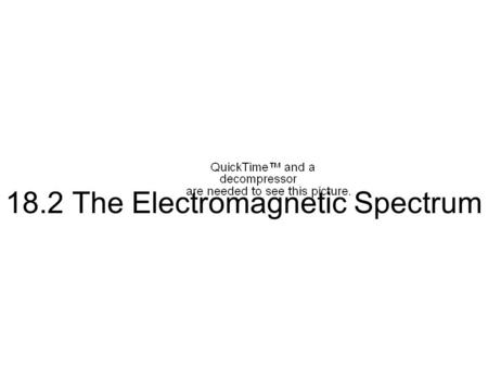 18.2 The Electromagnetic Spectrum Finding the Electromagnetic Spectrum Today, we know that we can't see certain electromagnetic waves. But how did we.