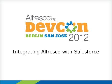 Integrating Alfresco with Salesforce. Agenda About Technology Services Group Why a Salesforce / Alfresco Integration Use Cases / Examples Technical Architecture.