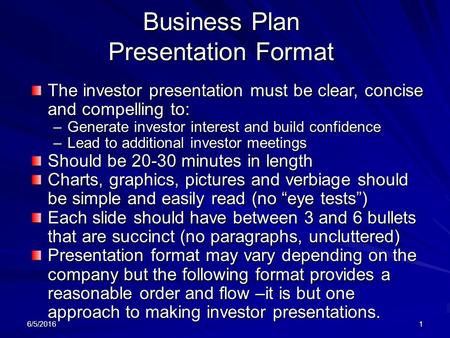 business plan presentation format - ppt download, Presentation templates