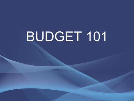 BUDGET 101. Learning Objectives Better understand the budget process Become familiar with the roles of staff, the City Manager, and City Council.