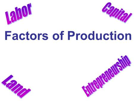 Factors of Production. DO NOW: WEEK 14 Word Bank: Good, Consumers, Scarcity, Limited, Wants, Producers, Unlimited, Service, Needs One of the biggest economic.