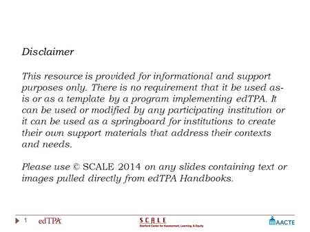 1 Disclaimer This resource is provided for informational and support purposes only. There is no requirement that it be used as- is or as a template by.