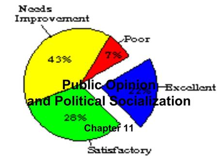 Public Opinion and Political Socialization Chapter 11.