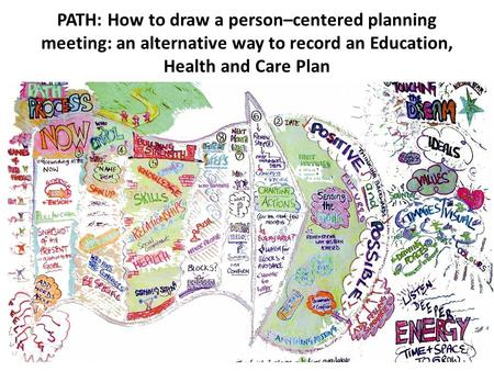 PATH: How to draw a person–centered planning meeting: an alternative way to record an Education, Health and Care Plan.
