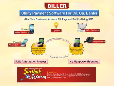 Utility Payment Software For Co. Op. Banks