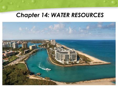 Chapter 14: WATER RESOURCES