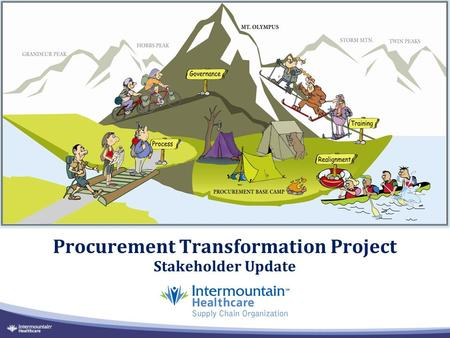Procurement Transformation Project Stakeholder Update.