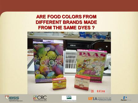 ARE FOOD COLORS FROM DIFFERENT BRANDS MADE FROM THE SAME DYES ?