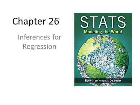 Chapter 26 Inferences for Regression. An Example: Body Fat and Waist Size Our chapter example revolves around the relationship between % body fat and.