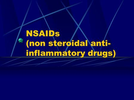 NSAIDs (non steroidal anti- inflammatory drugs). THE INFLAMMATORY RESPONSE 1.The inflammatory response is a normal (desirable) defense mechanism. 2.The.