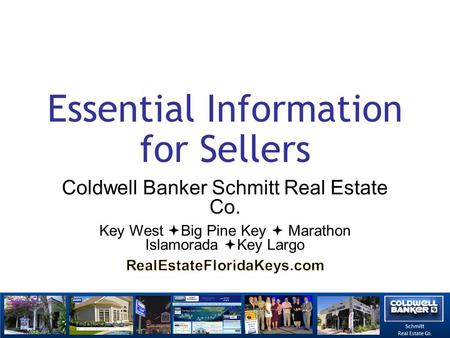 Schmitt Real Estate Co. Essential Information for Sellers.