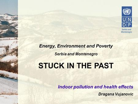 Energy, Environment and Poverty Serbia and Montenegro STUCK IN THE PAST Indoor pollution and health effects Dragana Vujanovic.