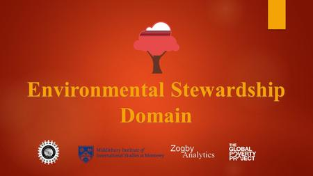 Environmental Stewardship Domain. Initial Results.
