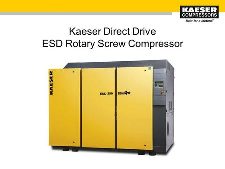 Kaeser Direct Drive ESD Rotary Screw Compressor