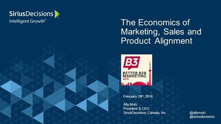 The Economics of Marketing, Sales and Product Alignment