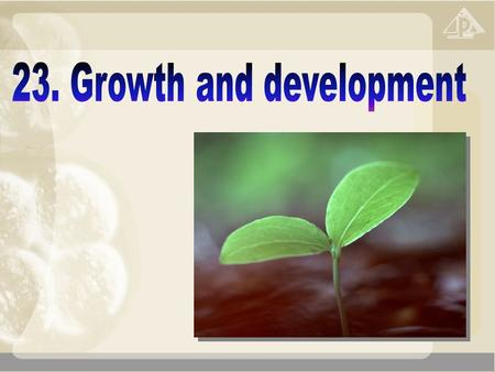 23 Growth and development (Extension) 23.1 Growth and development 23.2 Growth and development in humans 23.3 Seed germination 23.4 Growth and development.