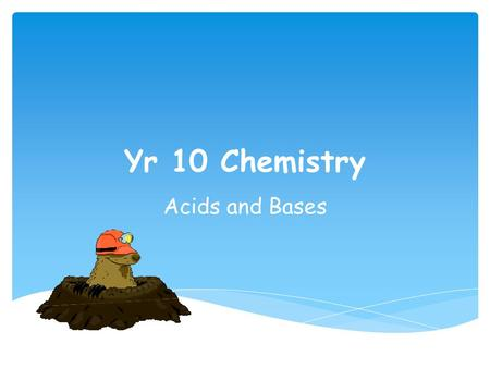 Yr 10 Chemistry Acids and Bases.  Calculate the new concentration if I ADD 200ml of water to 300ml of 2M HCl. Starter.