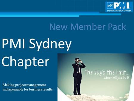 PMI Sydney Chapter New Member Pack Making project management indispensable for business results.