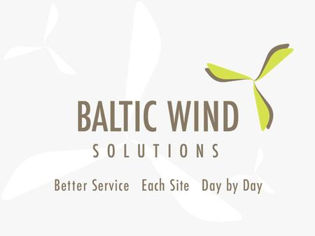 The history of BALTIC WIND SOLUTIONS growth 2 Experience Quality Safety Accepting the challenge 3 What is BALTIC WIND SOLUTIONS?