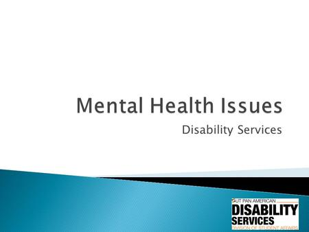 Disability Services.  Anxiety affects how we feel, behave and can have physical symptoms.  It can feel like fear, but oftentimes the cause of the anxiety.