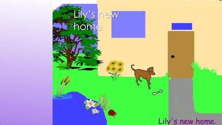 Lily's new home. A girl who's name is Amy is shopping with her family. They are shopping for a dog for Amy. They look and look but they don't like many.