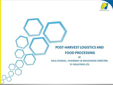 Post-harvest logistics and food processing