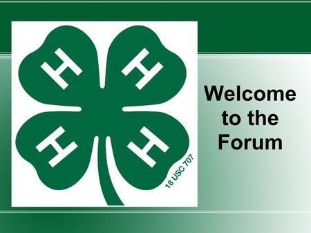Welcome to the Forum. Practice Community Forum This material is based upon work supported by the Cooperative State Research, Education, and Extension.