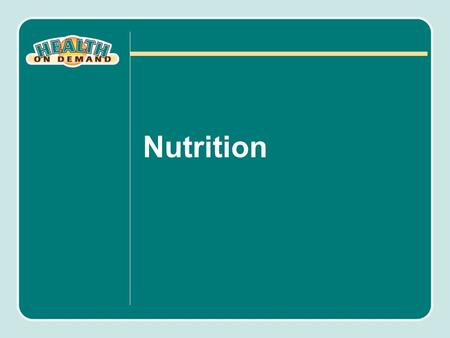 Nutrition. Objectives Identify the macronutrient components of the human diet and their corresponding caloric values and major functions in the body.