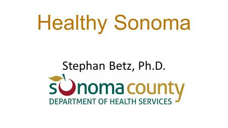 Healthy Sonoma Stephan Betz, Ph.D.. Projects Nightingale: Continuum of Care and Whole Person Care Sustainable Financing Portfolio.