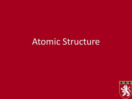 Atomic Structure. Fundamental Particles Knowledge and understanding of atomic structure has evolved over time. Atoms are made from three types of particles:
