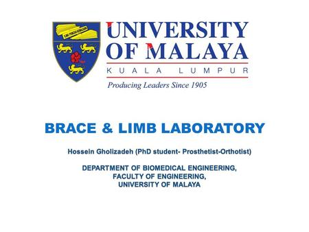 BRACE & LIMB LABORATORY. Processes of making a Transtibial prosthesis.