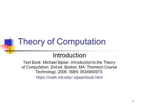 michael sipser introduction to the theory of computation pdf free