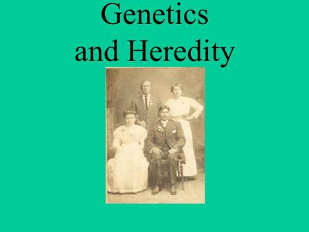 Genetics and Heredity Genetics as the study of heredity had its practical origin.