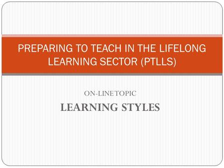 Preparing to teach in the lifelong learning sector essay